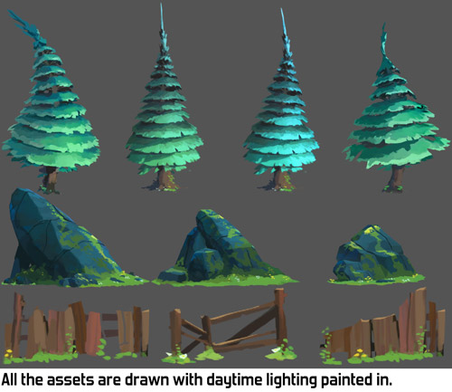 Tricks for using 2D daylight assets to create a night level - 2D ...